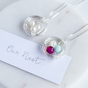 'Our Family Nest' Birthstone Necklace - necklaces & pendants