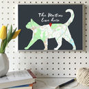 Personalised Cat Map Print