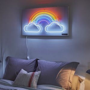 Rainbow And Clouds Neon Light Sign - brand new sellers