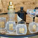 Pair Of Gold Gin O'clock Glasses