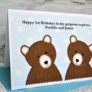 Boy Twins Birthday Card - Personalise for any birthday