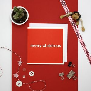 'Merry Christmas' Modern Christmas Card - cards & wrap