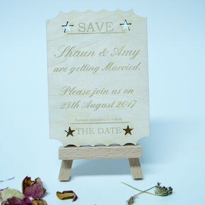 Personalised 'Save The Date' Ticket Invitation - invitations