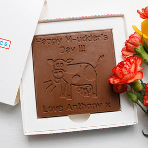 Personalised 'M Udders Day' Mother's Day Chocolate Card - gifts to eat & drink