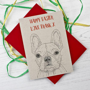 French Bulldog Easter Card - cards & wrap