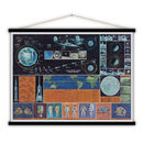 Cotton Lunar Moon Landing Print