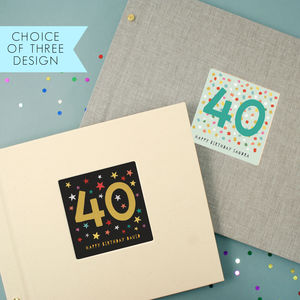 Personalised 40th Birthday Photo Album - photo albums