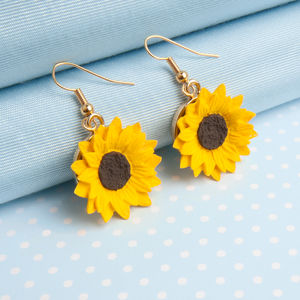 Sunflower Dropper Earrings