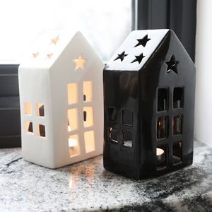 Ceramic House Tealight Holder - home accessories