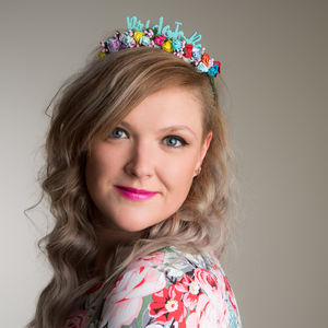'Bride To Be' Colourful Floral Crown