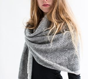 Grey Herringbone Scarf - gifts for women