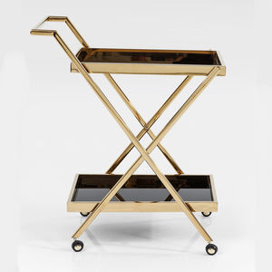 Gold And Black Casino Drinks Trolley