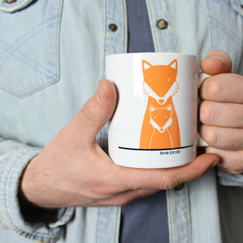 Fox Daddy And Me, Personalised Mug
