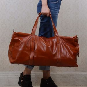 Unisex Leather Travel Luggage Bag Gift For Him