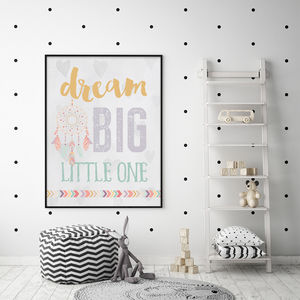 Dream Big Little One Nursery Poster - posters & prints