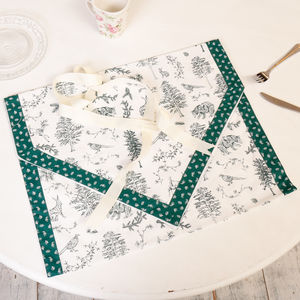 Woodland Wildlife Forest Table Runner