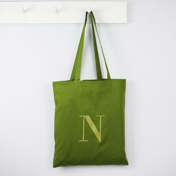 Personalised Initials Cotton Tote Bag