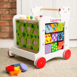 Children's Personalised Wooden Walker - toys & games
