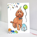 Red Cockapoo Birthday Card