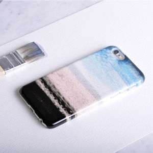 Ocean Beach Phone Case Design In Blue, White And Brown - whats new