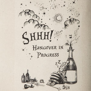 Shhh Hangover In Progress Bag