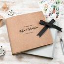 Boho Leather Wedding Guest Book