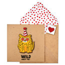 Handmade Wild About You Cheetah Romance Card