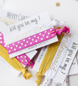 Will You Be My Flower Girl Hair Ties - be my bridesmaid?