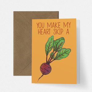 Heart Beet Funny Love Card