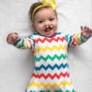 Rainbow Chevron Sleepsuit