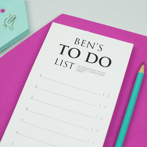 Personalised Classic 'To Do List' Notepad - writing