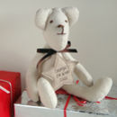 personalised baby's first christmas bear, stone star
