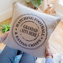 Personalised Grandad Stamp Cushion Updated