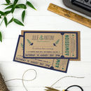 'Rustic' Woodland Wedding Ticket Invitation Set