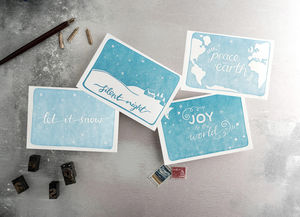 'Let It Snow' Set Of 12 Letterpress Christmas Cards