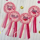 Hen Party Personalised Flamingo Rosettes