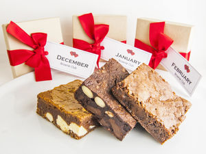 Chocolate Monthly Brownie Subscription For One Year - food gifts