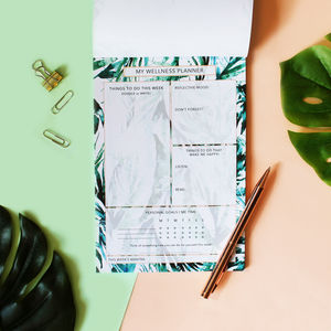 A5 Tropical Paradise Palms Wellness Planner/Organiser