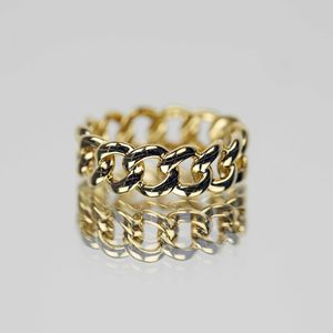 14k Gold Vermeil Chunky Chain Ring - rings