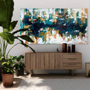 Large Blue Abstract Art Original Painting 60 Inch