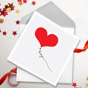 I Love You Balloon - original valentine's cards