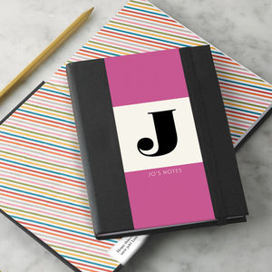 Personalised Alphabet Notebook - interests & hobbies