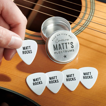Personalised Guitar Plectrums