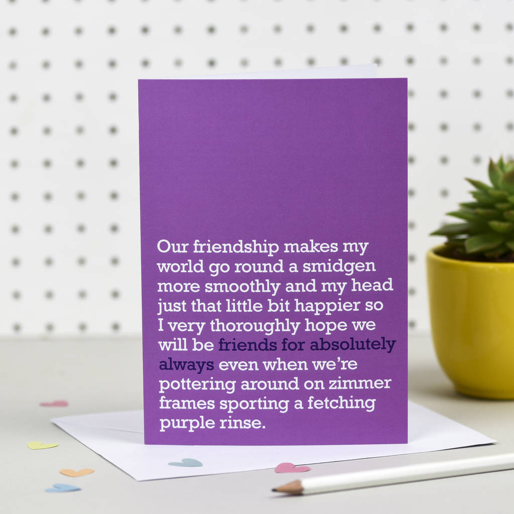 Best friend birthday cards friendship cards notonthehighstreet friends for absolutely always card cards for friends m4hsunfo