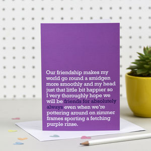 'Friends For Absolutely Always' Card