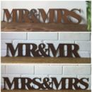 Wedding Signs Mr And Mrs , Mr And Mr , Mrs And Mrs
