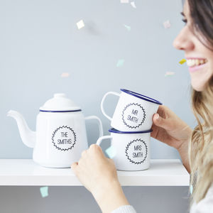 Enamel Personalised Teapot - gifts for families