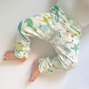 Organic Dinosaur Leggings - trousers & leggings