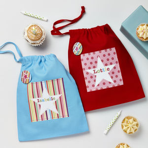 Girls Personalised Bright Star Party Bags