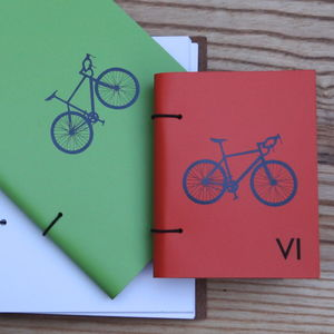 Leather Bound Bicycle Journal